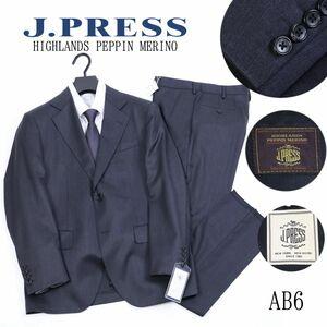 x621 新品 7.5万 J.PRESS ジェイプレス ハイランド ペピンメリノ ツイル スーツ Jプレス CLASSIC ウールスーツ 灰 米国トラッド AB6