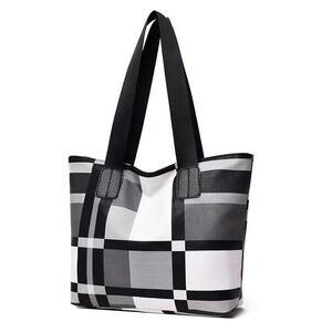 黒白色 大容量 PUトートバッグ レディスファッション  新品