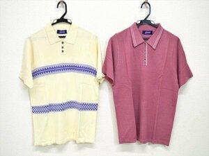 KM260●未使用!!●jasmi SILK ジャスミシルク シルク100% 半袖ポロシャツ 2点セット フリーサイズ