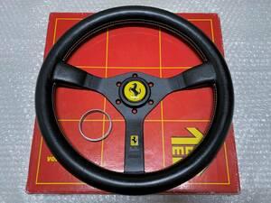 美品♪ 当時物 MOMO モモ Cavallino キャバリーノ 35パイ ステアリング 旧車 フェラーリ テスタロッサ F40 348 F355 328 308 FIAT アバルト
