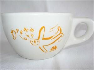 ★中古品 汚れ有り 古い MOS BURGER モスバーガー Dream マグカップ コーヒーカップ スープマグ コップ 磁器製 当時物 レトロ ノベルティ★