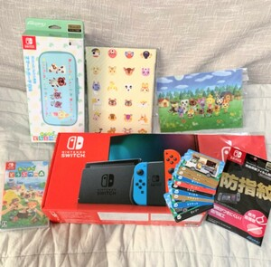 Nintendo Switch Switch本体+あつまれどうぶつの森 ソフト他+購入特典2点付