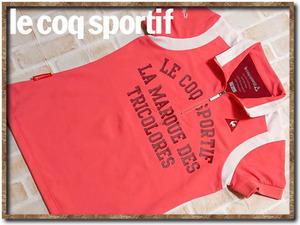 美品!!☆le coq sportif ルコック 刺繍入り半袖ポロシャツ ピンク☆