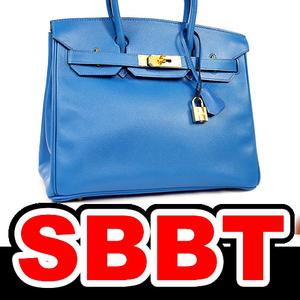 【SBBT】 HERMES エルメス バーキン30 ブルーフランス G金具 クシュベル □E刻印 青 バーキン 30 ゴールド金具 本物 未使用