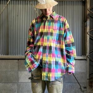 90年代 TOMMY HILFIGER トミーヒルフィガー 長袖 ボタンダウン チェック柄 シャツ メンズXL相当