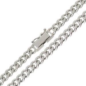 喜平ネックレス 2面シングル チェーンネックレス Pt850 プラチナ850 造幣局検定マーク 約50.5cm 約50.3g NT 磨き仕上げ品 Sランク