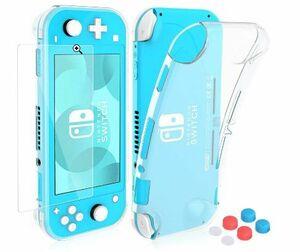 Nintendo Switch lite カバー HeysTop ニンテンドースイッチライト カバー TPUソフトケース+保護フィルムセット+親指キャップ6個 セット