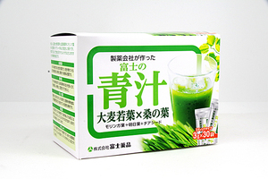 ♪ 富士薬品 富士の青汁 (大麦若葉×桑の葉) 30袋 1箱 賞味期限2022年7月迄 未開封品
