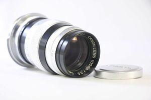 実用★キヤノン Canon 100mm F3.5 LTM L39マウント★Mマウントアダプターつき★薄クモリ★OOO704