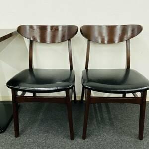 CRES ダイニングチェア 木製椅子 2脚セット