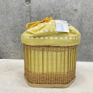 新品 タグ付き 麻100% 和装バッグ 籠 巾着 和装小物 浴衣 カゴ 本麻 天然素材