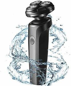 メンズ電気シェーバー電気カミソリひげそりメンズ回転式3枚刃5D浮上刃USB充電式