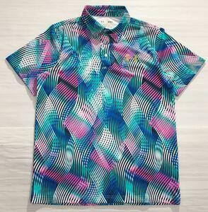 《UNDER ARMOUR アンダーアーマー》UA ロゴプリント カラフル 幾何学柄 半袖 ポロシャツ MD