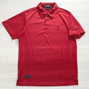 《le coq sportif GOLF ルコックゴルフ》ロゴ刺繍 半袖 ポロシャツ レッド