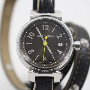 ルイヴィトン タンブール クォーツ レディース 腕時計 ブラウン文字盤 純正スハリライン2重巻きベルト Q1211【いおき質店】