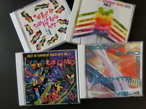 The Best Of Eurobeat Disco Hits Vol,1~Vol,4■日本盤オムニバス・アルバム4枚セット