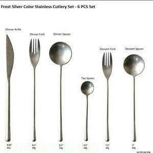フロストシルバー 新品 カトラリーセット 6本 スプーン フォーク ナイフ