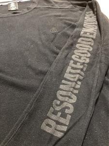 【送料無料】ロングTシャツ RESONATE GOODENOUGH リゾネイト グッドイナフ ロゴ 黒 XL 裏原宿 藤原ヒロシ 村上淳