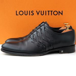 良品・イタリア製★ルイヴィトン LOUIS VUITTON★ドレスシューズ 6=25cm プレーントゥ MT0174 レザー 黒 メンズ ビジネス fk v-528