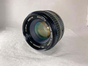 ★外観極上★ ミノルタ MINOLTA MC ROKKOR-PF 50mm F1.7   418#0011 #1896