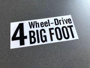 送料無料♪ 四駆 4wheel drive ステッカー 黒色 アメ車 4wd タンドラ 4ランナー ランクル プラド パジェロ ハマー FJ