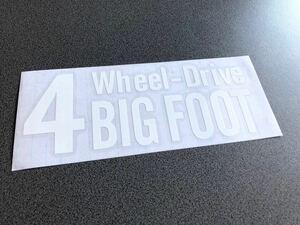 送料無料♪ 四駆 4wheel drive ステッカー 白色 アメ車 4wd タンドラ 4ランナー ランクル プラド パジェロ ハマー FJ