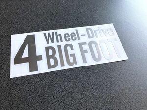 送料無料♪ 四駆 4wheel drive ステッカー シルバー色 アメ車 4wd タンドラ 4ランナー ランクル プラド パジェロ ハマー FJ