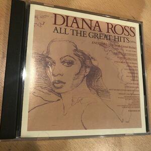 送料無料Diana Ross「All The Greatest Hits」輸入盤 状態良好 名曲多数収録HITS ダイアナ・ロス