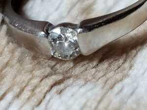 【歪あり】2.8g Pt900 ダイヤ0.15ct 指輪 プラチナ ダイヤモンド