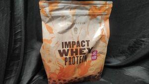 マイプロテイン Impact ホエイ プロテイン 1kg 黒糖 ミルクティー