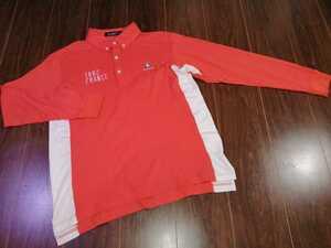 le coq sportif/ルコックスポルティフ/ポロシャツ/GOLF/ゴルフ/ウェア/オレンジ/長袖