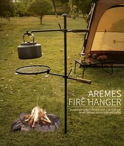 焚き火ハンガー 焚き火台 ソロキャンプ キャンプ アウトドア