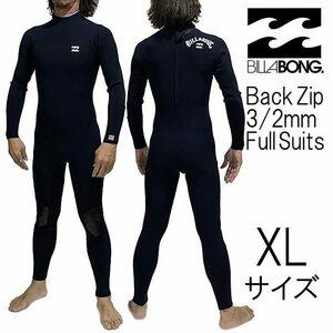 XLサイズ BKW メンズ Billabong ビラボン ウェットスーツ 3/2mm フルスーツ バックジップ bb018-008