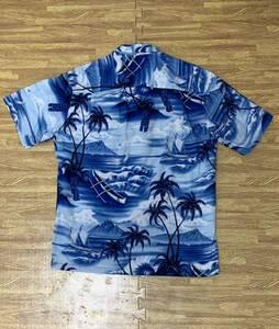【古着】【中古】メンズアロハシャツ:ROYAL CREATIONS:ロイヤルクリエーションズ:水色:ブルー:サイズS:ハワイアン