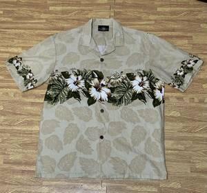 【古着】【中古】メンズアロハシャツ:ROYAL CREATIONS:ロイヤルクリエーションズ:ベージュ:サイズM:ハワイアン