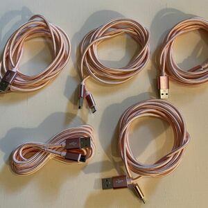 ライトニング USB充電ケーブル USB→typeC 2m 5本まとめて!