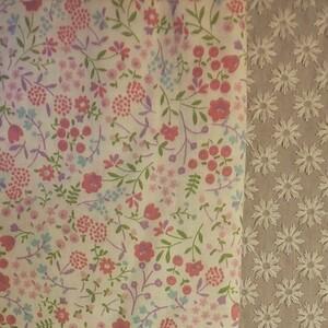 花柄ダブルガーゼ 生地巾約110cm×約50cm