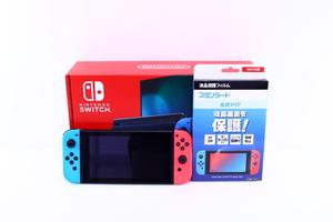 ★美品 任天堂 新型 ニンテンドー スイッチ HAC-001 Nintendo Switch ネオンブルー/ネオンレッド【10660641】