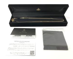 【ほぼ未使用】 FAIRY CULLET フェアリーカレット 喜平 ネックレス K18 6面W 50cm 箱あり 保証書あり 匠の技