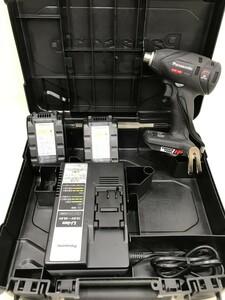 【中古品】パナソニック Panasonic 充電インパクトドライバー EZ75A1LS2F-B(黒) 14.4V3.3ah x2個 ITPZS7JX576O ○○