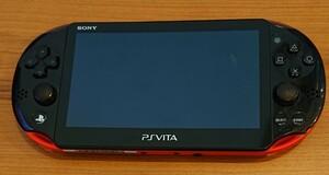 PS Vita PCH-2000 レッドブラック 本体 Wi-Fiモデル おまけ付き
