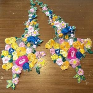 値下げ 刺繍 ハンドメイド 花モチーフ お花
