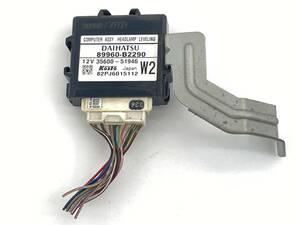 _b59732 ダイハツ タント カスタム X リミテッド DBA-L375S ヘッドライト ランプ レベリング コンピューター 89960-B2290 L385S