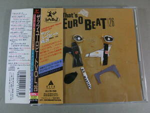 ■帯付CD ザッツ・ユーロビート That's EUROBEAT VOL.26 ■
