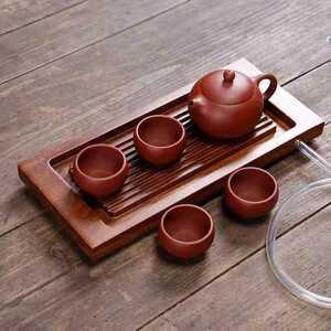 本物 紫砂壷 宜興紫砂 茶器セット 茶台 茶碗四客 朱泥 中國 唐物 急須 煎茶道具 中国古美術 煎茶器 常滑 作家在銘 容量約150cc 53