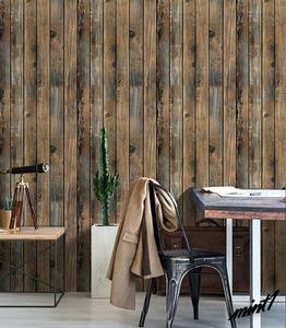 【和風でお洒落な部屋に】リメイクシート はがせる壁紙 接着剤不要 濃い木目調 簡単 DIY 防水 防カビ ウォールステッカー 壁紙シール