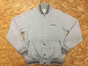 コロンビア Columbia ブルゾン スウェットジャケット メンズ ロゴ刺繍 スナップボタン リブライン ジップポケット S ライトグレー