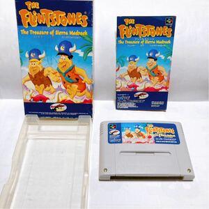 スーパーファミコン ザ・フリントストーン トレジャー オブ シェラマッドロック 箱 説明書付 【SFC THE FLiNT STONES 】