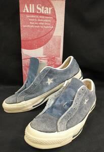 [USA製・70s] CONVERSE ONE STAR Vintage コンバース ワンスター スウェード ヴィンテージ スニーカー 26.5cm 青 ブルーOK-106 店舗受取可