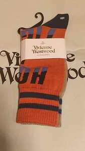 ヴィヴィアンウエストウッド/レティース クルーソックス 綿 靴下/23㎝から24㎝/新品未使用/ソックス vivienne westwood 4 赤
